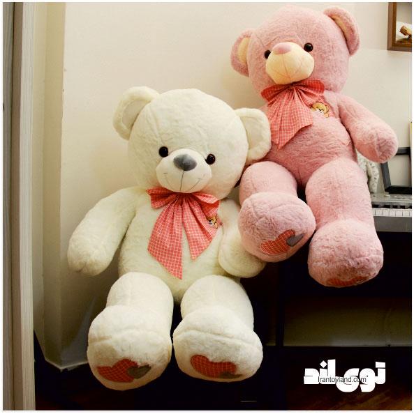 عروسک خرس بزرگ سفید آروشا arousha140white3