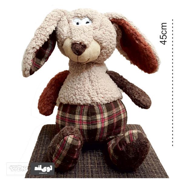 عروسک پولیشی و پارچه ای خرگوش شلوار چارخونه