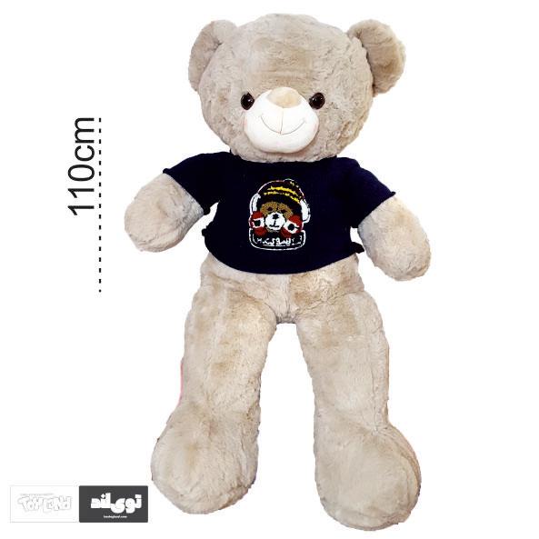 عروسک خرس بزرگ کرم شیری رنگ 1 متری