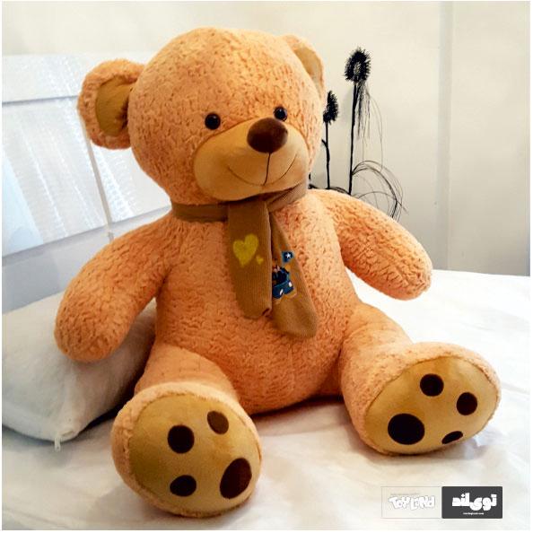 عروسک خرس بزرگ نشسته 140 سانتی