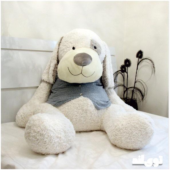 عروسک سگ بزرگ لباسدار