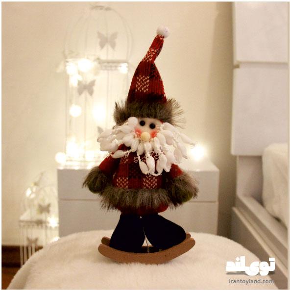 عروسک کریسمس بابا نوئل راکردار