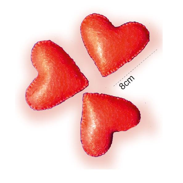 قلب قرمز نمدی 10 سانتی