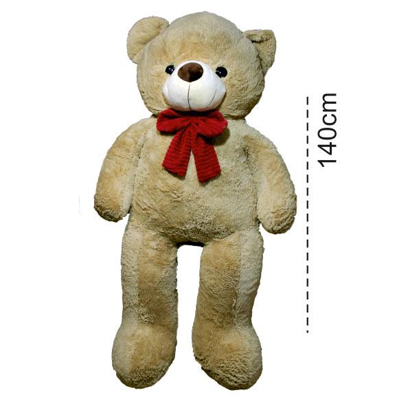 عروسک خرس بزرگ عسلی رنگ 140 سانتی