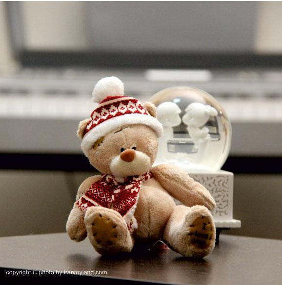 عروسک ولنتاین خرس میتویو زمستانی شکلاتی