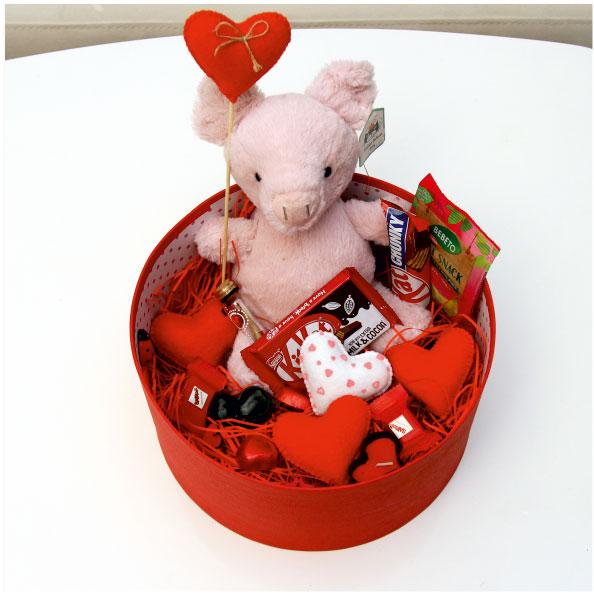 پکیج هدیه ولنتاین خوک صورتی