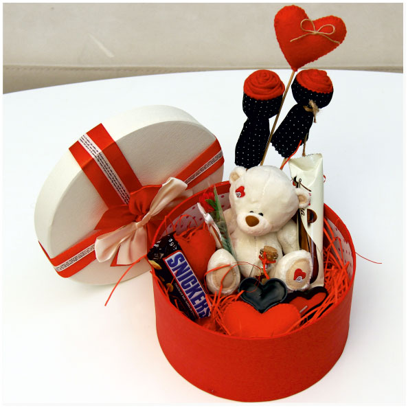 پک هدیه ولنتاین جعبه گرد