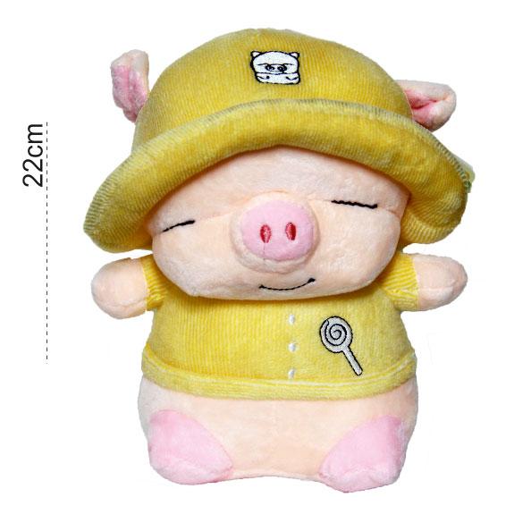 عروسک پولیشی بچه خوک کلاهدار عروسک پولیشی بچه خوک کلاهدار