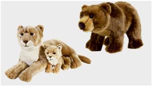 عروسک حیوانات طبیعی