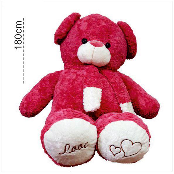 عروسک خرس بزرگ ولنتاین راس 180 سانتی
