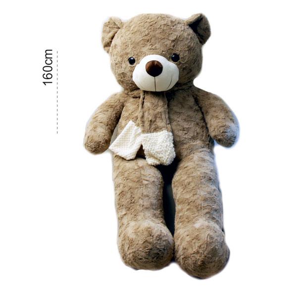 عروسک خرس بزرگ شالگردندار 160 سانتی