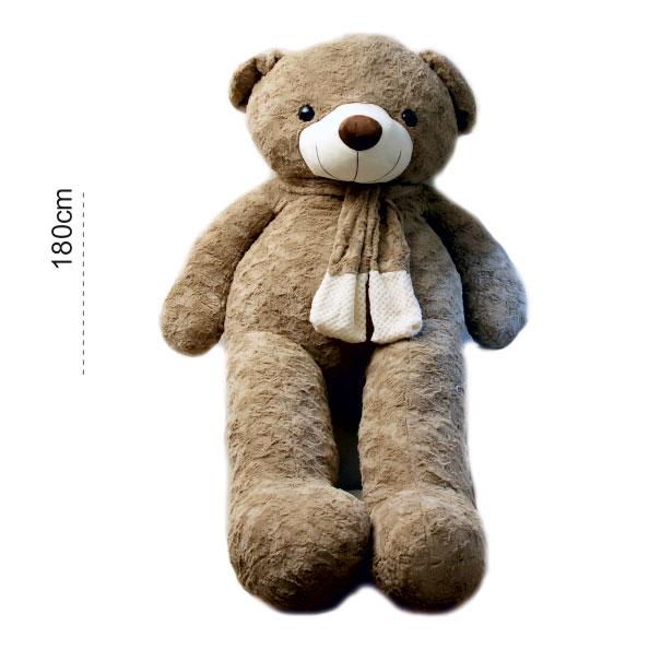 عروسک خرس بزرگ شالگردندار 180 سانتی
