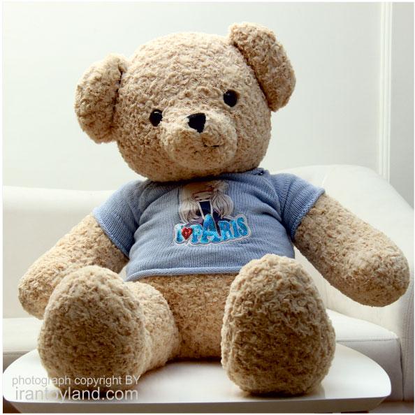 عروسک خرس بزرگ تدی تاتی پولیور دار