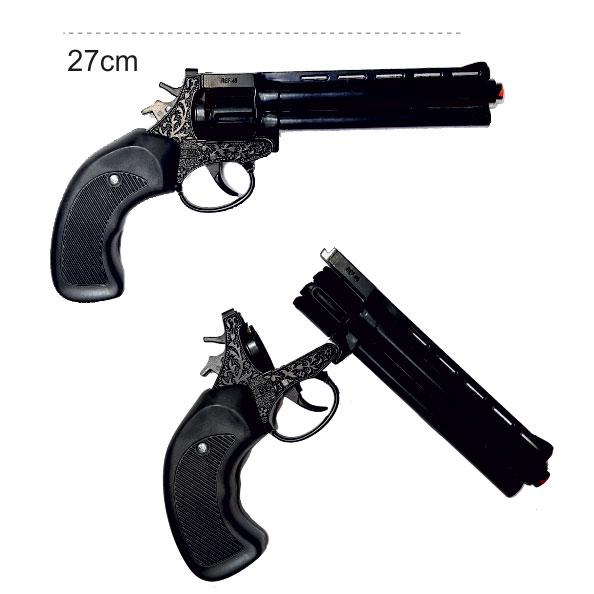 ماکت تفنگ فلزی رولور ترقه ای 8 تیر