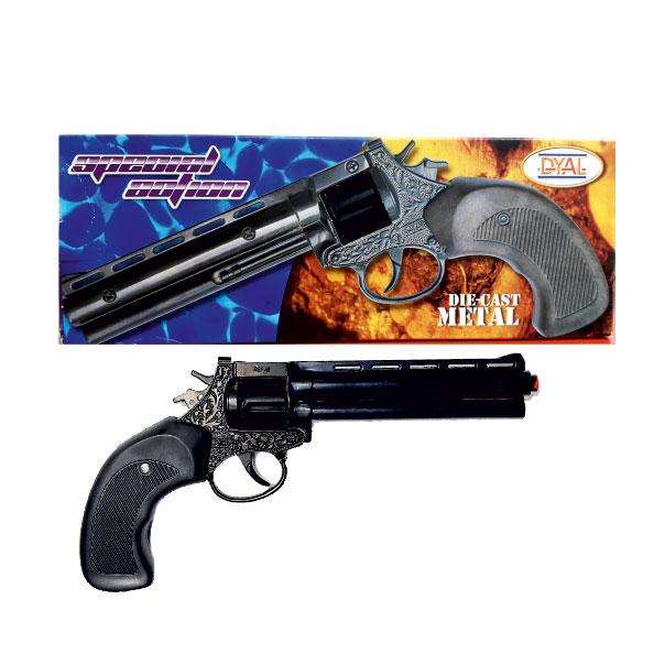 ماکت تفنگ فلزی ترقه ای رولور ترقه ای 8 تیر