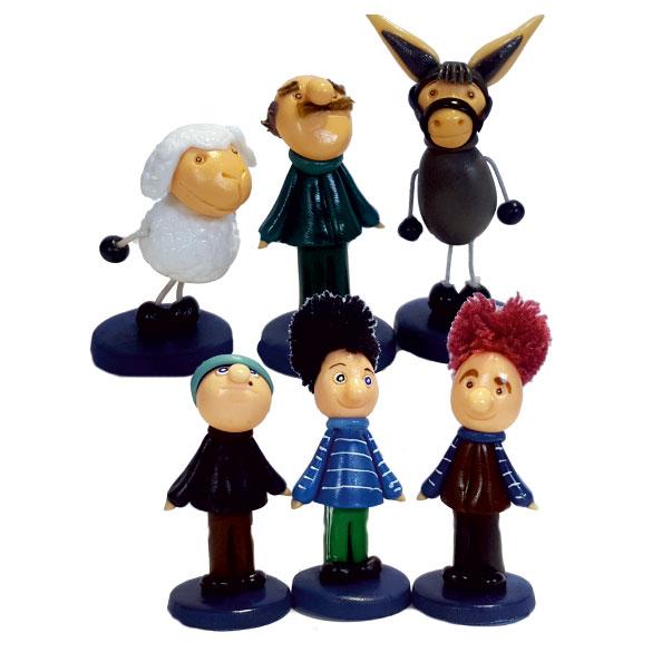 فیگور شخصیت کارتونی کلاه قرمزی و پسرخاله 6 عددی