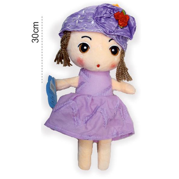 عروسک پولیشی و پارچه ای دخترک گیس بافت