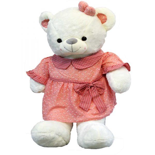 عروسک خرس بزگ دختر لباسدار