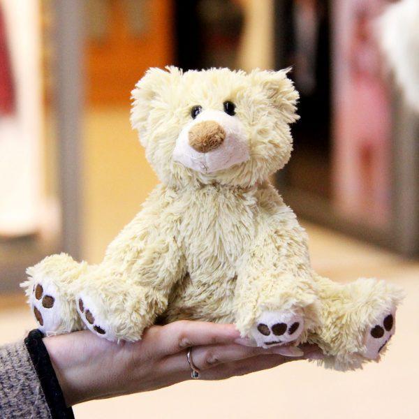 عروسک پولیشی بچه خرس گریزلی نشسته ولنتاین