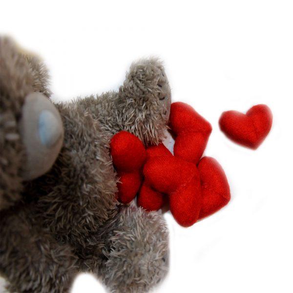 قلب مخملی بسته بندی کادویی
