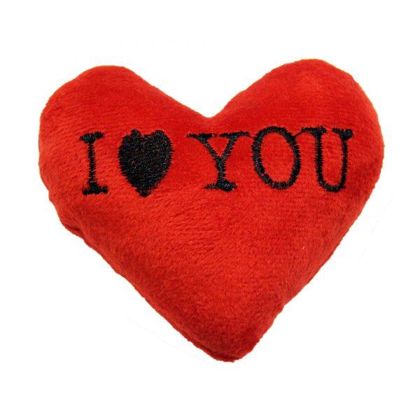 قلب وانتاین مخملی قرمز