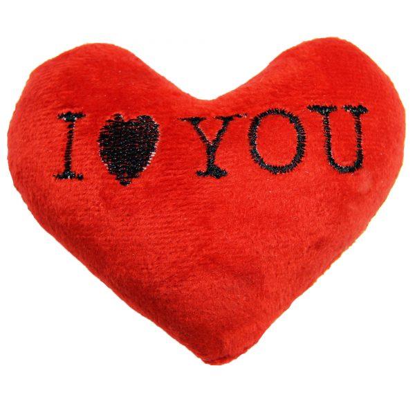 قلب ولنتاین مخملی قرمز
