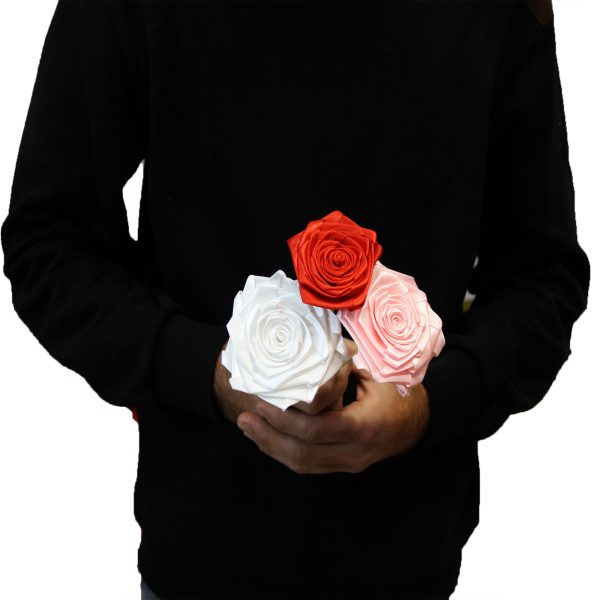 شاخه گل رز پارچه ای