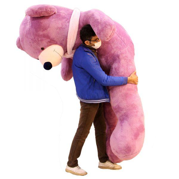 عروسک خرس 3 متری بنفش
