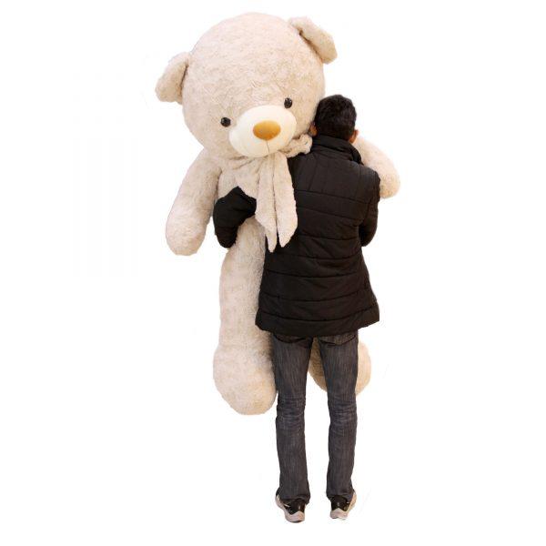 عروسک خرس سفید شیری
