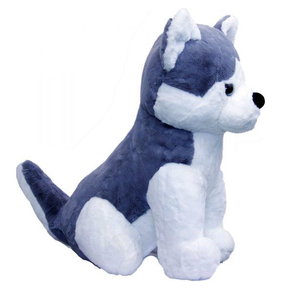 عروسک پولیشی سگ هاسکی بزرگ